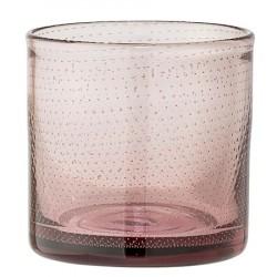 Lyseholder Brun Glas 12x13 cm