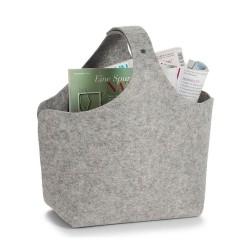 Magasinholder kurv i grå filt