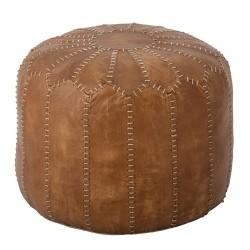 Marokkansk puf Coby læder - Bloomingville