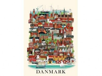Martin Schwartz Plakat Danmark 42 x 30 cm