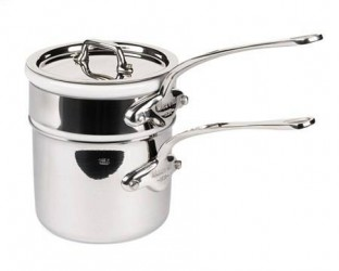 Mauviel Cook Style Bain-Marie 0,8L blank stål