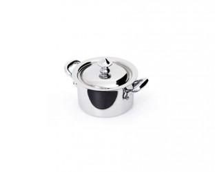 Mauviel Cook Style Gryde med låg 0,3L blank stål