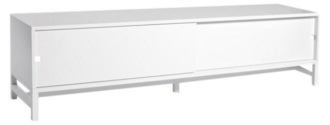 Mavis - Falsterbo Tv-bord m/skydelåger - Hvid