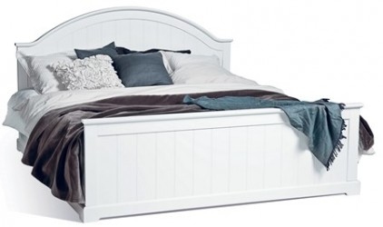 Mavis Smögen seng - hvidlak, 180 x 200