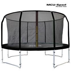 MCU-Sport Pro-line 4,3m Sort Trampolin V3.0 inklusiv Pro sikkerhedsnet