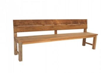 Mega Recycle Plankebænk m/ryglæn - 240 cm