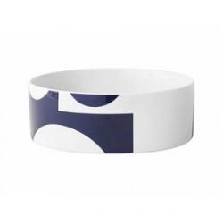 Menu Verner Panton Skål - Ø 24 cm - Hvid/marineblå
