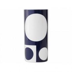 Menu Verner Panton Vase - H 22,5 cm - Hvid/marineblå