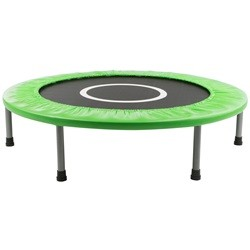 Mini trampolin / fitness trampolin på 96 cm i diameter, grøn
