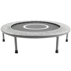 Mini trampolin / fitness trampolin på 96 cm i diameter, sølv