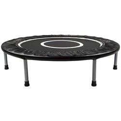 Mini trampolin / fitness trampolin på 96 cm i diameter, sort