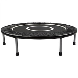 Mini trampolin / fitness trampolin på 96 cm i diameter, sort