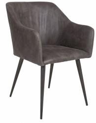 Miranda Spisebordsstol m/armlæn - Vintage grå
