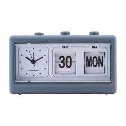 Monograph ur, retro, blÅ, m. alarm og kalender