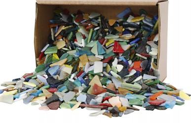 Mosaik, ass. farver og former, str 8-20mm, 2kg