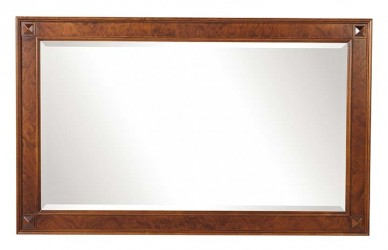 Mozart vægspejl - valnøddebrun, rektangulært (85x140)