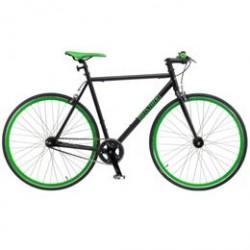Mustang Fixie herrecykel med flip flop-gear - Sort/grøn