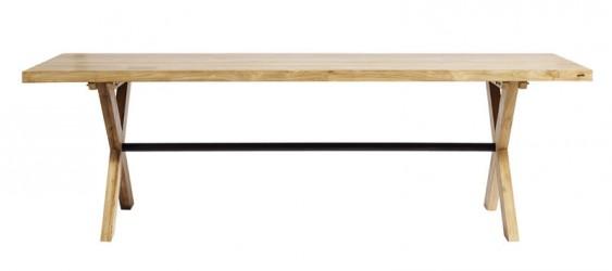 Muubs - Cross Spisebord 240x90 - Genanvendt teak