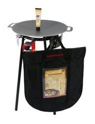 Muurikka Sæt med gasbrænder, beskyttelsespose, stegefedt og bageplade på 48 cm