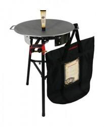 Muurikka Sæt med gasbrænder, beskyttelsespose, stegefedt og bageplade på 58 cm