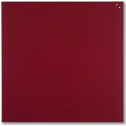 NAGA glastavle magnetisk 100x100 cm - rød