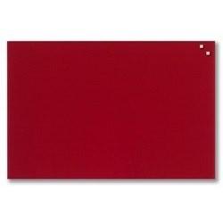 NAGA glastavle magnetisk 40x60 cm - rød