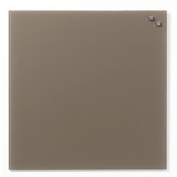 NAGA glastavle magnetisk 45x45 cm - beige