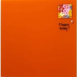 NAGA glastavle magnetisk 45x45 cm - orange