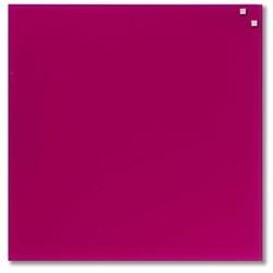 NAGA glastavle magnetisk 45x45 cm - pink