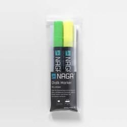 Naga marker penne (grØn/gul/4,5 mm)
