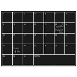 NAGA selvklæbende sticker med månedsplan - 70 x 100 cm.