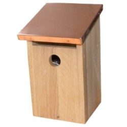 Nature Life fuglekasse til mejser - Eg/kobber