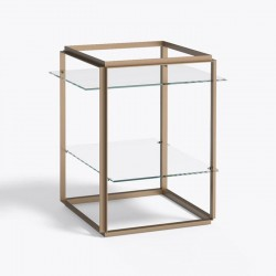 New works - Side table - Florence shelf gold