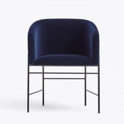 New works - Spisebordsstol - Covent dining chair (Mørkeblå velour)