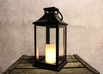 Njord - LED - Lanterne Astrid H36 x B16,8 x L16,8 cm - Sort