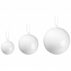 Nobili dekorationskugler (hvid)
