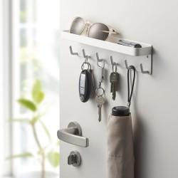 Nøgleholder med bakke - hvid
