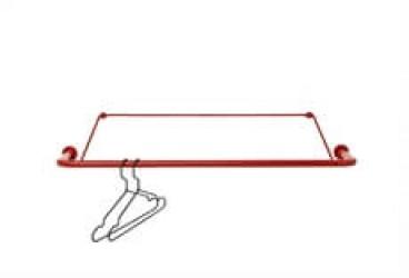 Nomess Gravity garderobestang i rød - 90 cm