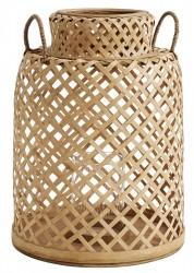 Nordal - Bambus Lanterne m/håndtag - Natur