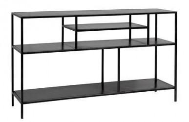 Nordal Displaybord Large 74x35x130 cm - Sort