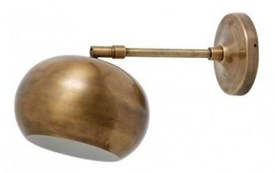 Nordal Globe væglampe - mat messing