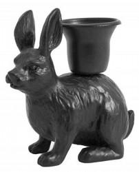 Nordal RABBIT candleholder, black
