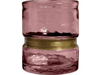 Nordal Ring Fyrfadsstage - H 10 cm - Rosa
