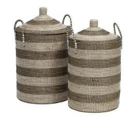 Nordal Seagrass vaskekurv 2 st