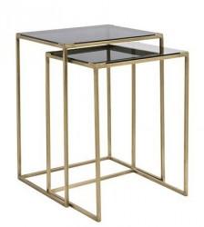 Nordal Sofabord kvadratiskt 2stk - Sort/Messing