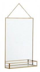 Nordal Spejl med hylde 50x35 cm - Guld