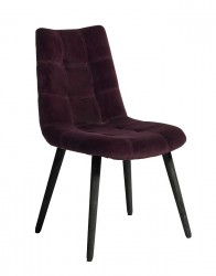 Nordal - Spisebordsstol i vinrød velour