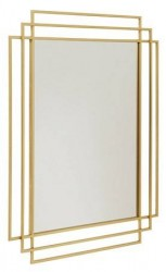Nordal Square Spejl i jern - Guld