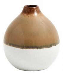 Nordal Vase Nature rund 11 cm - Brun