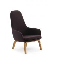 Normann Copenhagen Era Lounge stol - høj/eg - Fame 64055